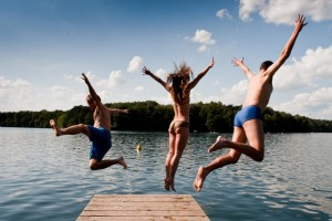 jumping-into-lake